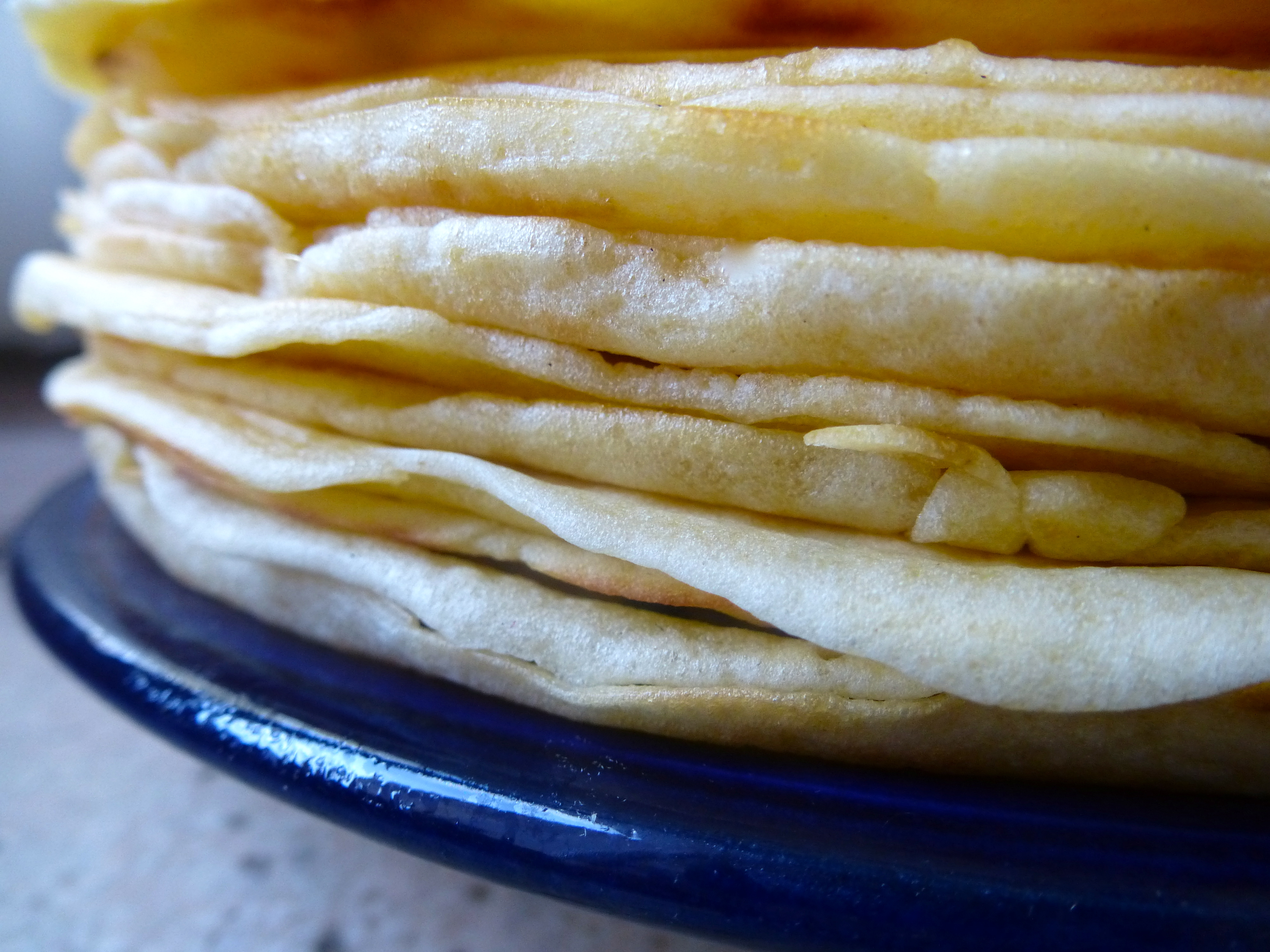 Ingredients (makes 10 pancakes): 1 2/3 cups/200 g flour; pinch of salt ...